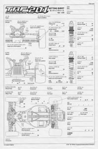 Blank Setup Sheets