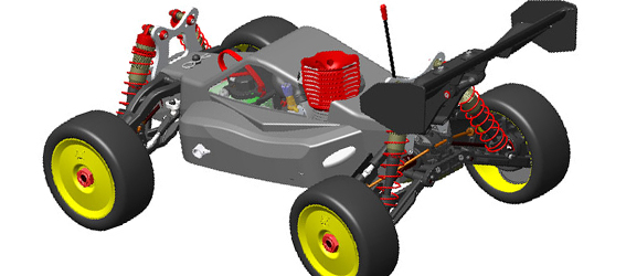 S-Workz S350 BK-1 1:8 Scale Buggy