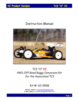 RC Product Designs Manuals