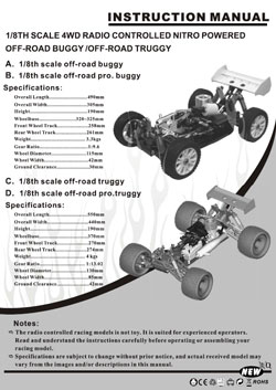 racing manuals redcat racing manuals