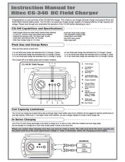 Hitec Charger Manuals
