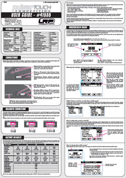 LRP Charger Manuals