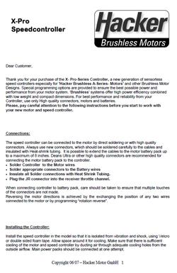 Hacker ESC Manuals