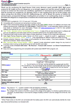 Speed Passion ESC Manuals