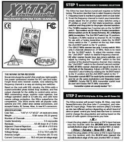 Novak Radio Gear Manuals