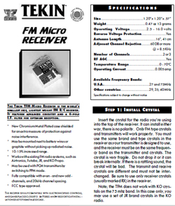 Tekin Radio Gear Manuals