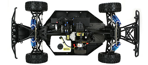 Losi 5IVE-T Chassis Shot