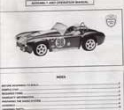 Kyosho Shelby Cobra 427 SC Manual