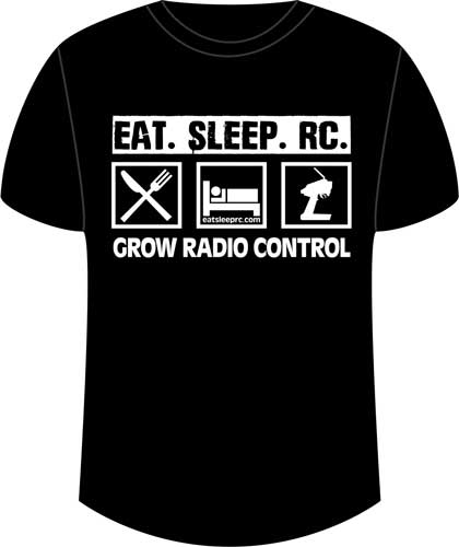 CompetitionX Eat Sleep RC T-Shirt - Black