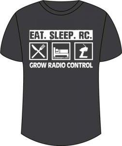 CompetitionX Eat Sleep RC T-Shirt - Dark Grey