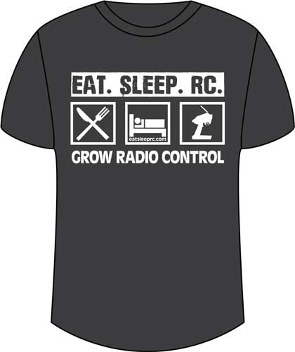 CompetitionX Eat Sleep RC T-Shirt - Dark Grey