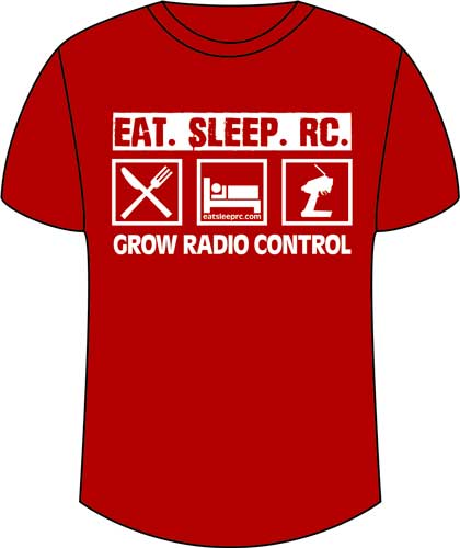 CompetitionX Eat Sleep RC T-Shirt - Red