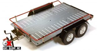 Integy Billet Machined Dual-Axle Car Trailer