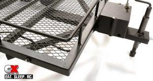 Integy Machined Aluminum Flatbed Dual-Axle Car Trailer