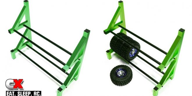 Integy Aluminum Wheel and Tire Storage Rack