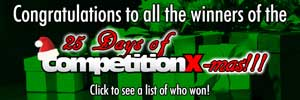 Congratulations to the winners of the 25-Days of CompetitionX-mas