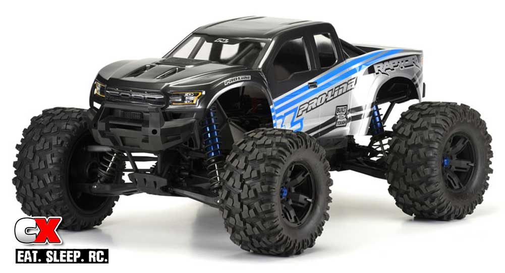 pro line racing 2017 ford f 150 raptor body for the traxxas x maxx. Black Bedroom Furniture Sets. Home Design Ideas