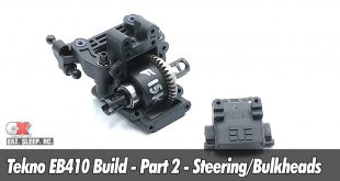 Tekno EB410 Build - Steering and Bulkheads