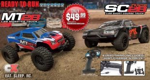 Team Associated MT28 / SC28 Fox Factory Edition 1:28 Scale Trucks