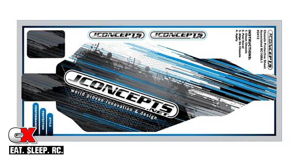 JConcepts Pre-Cut Chassis Protector for the Team Associated B6.1