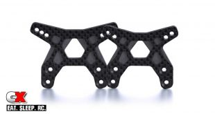 PSM Carbon Fiber Front Shock Towers for the Team Associated B6.1 / B6.1D | CompetitionX