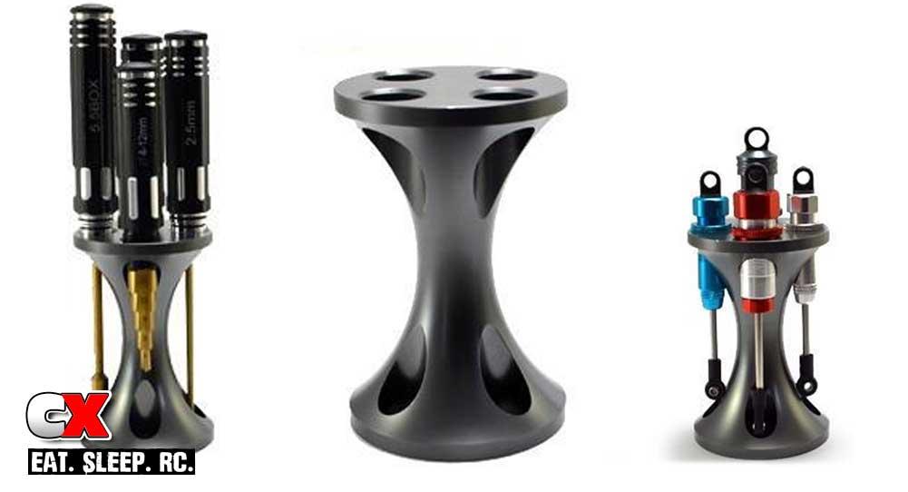 The Toyz.com Aluminum Shock / Hex Driver Stand | CompetitionX