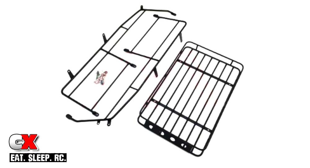 The Toyz Metal Luggage Cage Roof Rack for the Traxxas TRX-4 Defender | CompetitionX