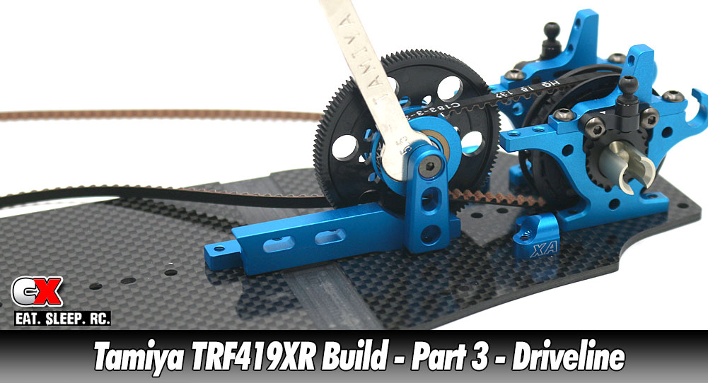 Tamiya TRF419XR Touring Car Build - Part 3 - Driveline   CompetitionX