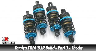 Tamiya TRF419XR Touring Car Build - Part 7 - Shocks | CompetitionX