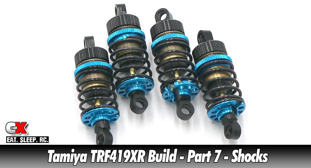 Tamiya TRF419XR Touring Car Build - Part 7 - Shocks   CompetitionX