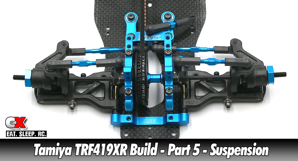 Tamiya TRF419XR Touring Car Build - Part 5 - Suspension | CompetitionX
