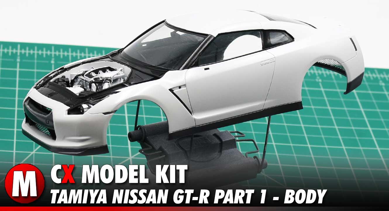 Video: Tamiya Nissan GT-R Model Kit Build Part 1 - The Body | CompetitionX