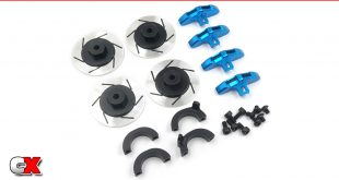 Yeah Racing Aluminum Brake Disc Wheel Adapters - Tamiya CC02 | CompetitionX