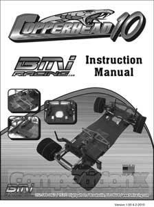 BMI Racing Copperhead 10 Manual
