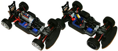 Ford Fiesta and Ford Mustang Boss 302 Chassis Shot
