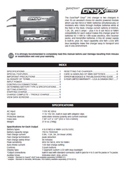 Duratrax Charger Manuals