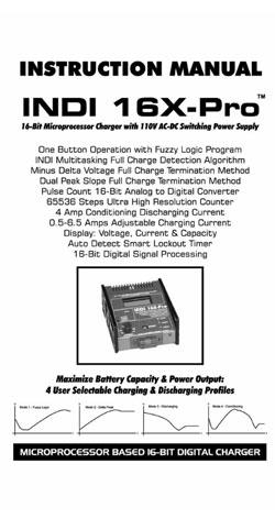Integy Charger Manuals