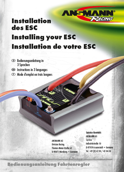 Ansmann ESC Manuals