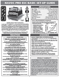 Novak ESC Manuals