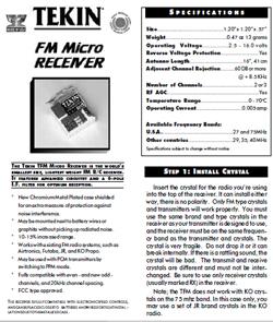 Tekin Radio Gear Manuals