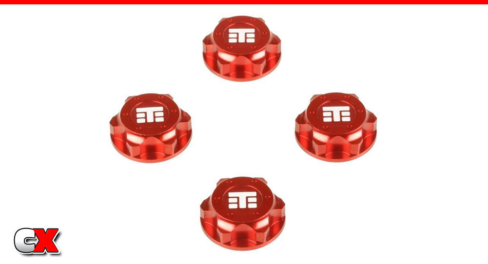 Tekno RC Red Anodized Captured Wheel Nuts   CompetitionX