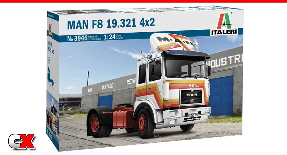 Italeri MAN F8 4x2 Commercial Truck   CompetitionX