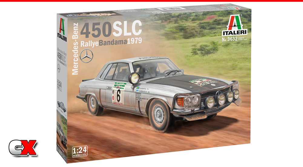 Italeri 1979 Mercedes Benz 450SLC Rallye Bandama Model Kit | CompetitionX